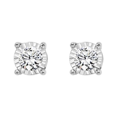 Round Solitaire STUD Earrings