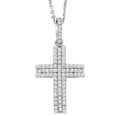 Sterling Silver & CZ CROSterling Silver Necklace