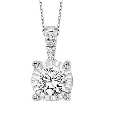 Diamond Solitaireitaire Diamond BALE Necklace