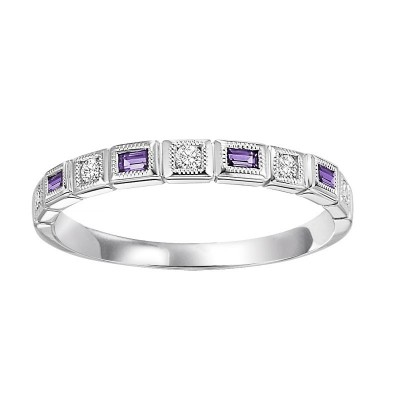 Amethyst & Diamond BAND