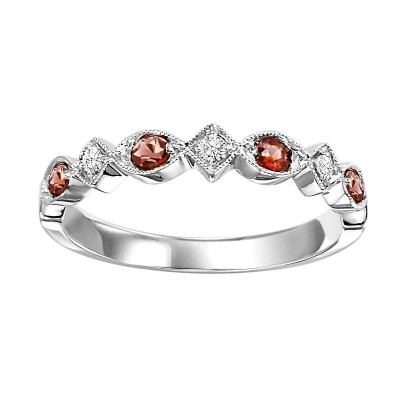 GARNET Diamond BAND
