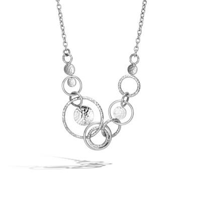 Dot Hammered Multi Link Necklace