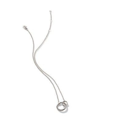 Classic Chain Hammered Interlink Necklace