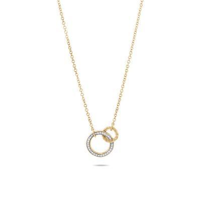 Classic Chain Diamond Pave Interlink Necklace
