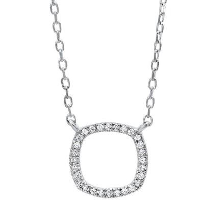 Square Shape Diamond Necklace