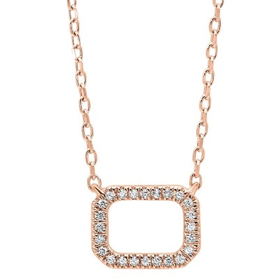 RECT Diamond Necklace