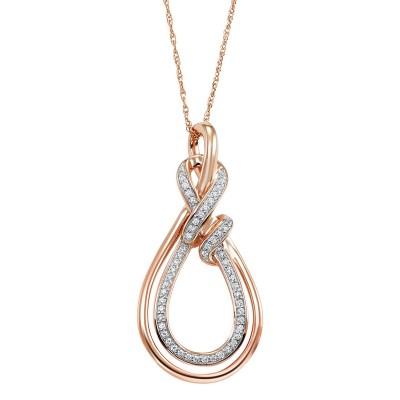 Double Tear Drop Shape Diamond Necklace