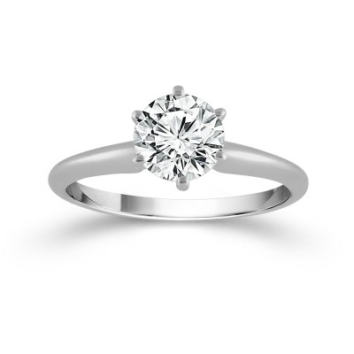 Solitaire Round Ring