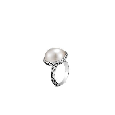 Classic Chain Pearl Ring