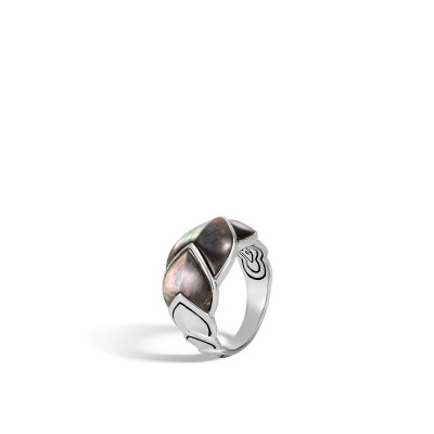 Legends Naga Medium Ring with Grey Mother of Pearl