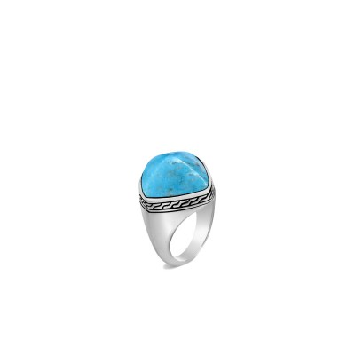 Classic Chain Turquoise Sugarloaf Ring