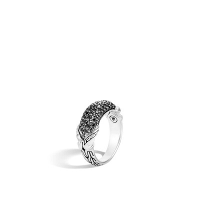 Asli Classic Chain Ring with Black Sapphire & Black Spinel
