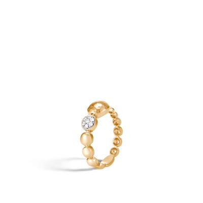 Dot Hammered Diamond Pave Ring