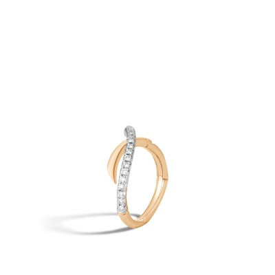 Bamboo Diamond Pave Ring