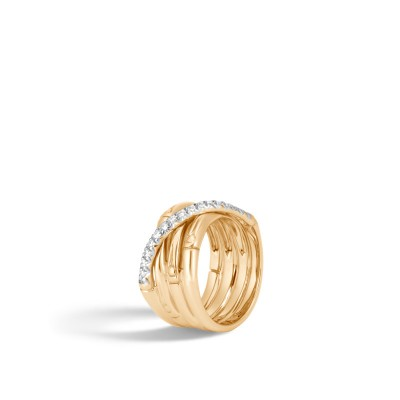 Bamboo Diamond Pave Band