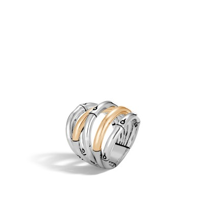 Bamboo Two-Tone Ring