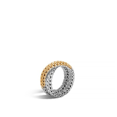 Classic Chain Two-Tone Crossover Ring