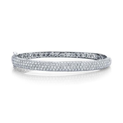 5.25ct 14k White Gold Diamond Bangle