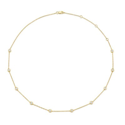 "1.02ct 14k Yellow Gold 18"" Diamonds By The Yard Chain"