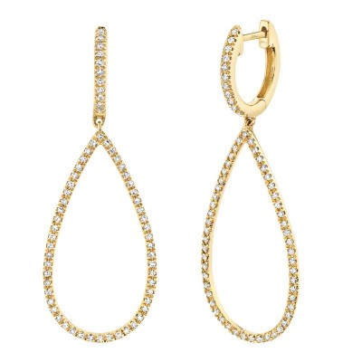 0.40ct 14k Yellow Gold Diamond Earring