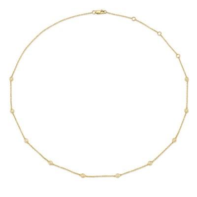 "0.28ct 14k Yellow Gold 18"" Diamonds By The Yard Chain"