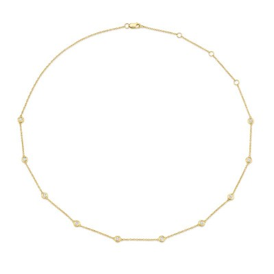 "0.54ct 14k Yellow Gold 18"" Diamonds By The Yard Chain"