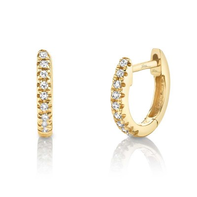 0.04Ct 14k Yellow Gold Diamond Huggie Earring
