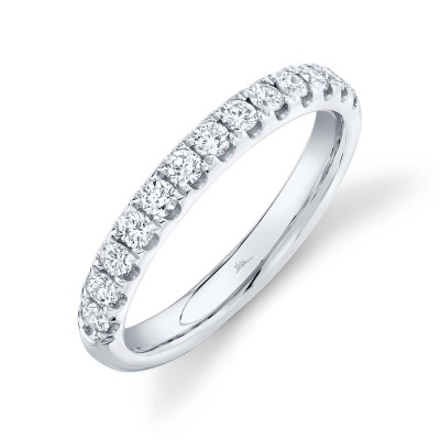 0.55ct 14k White Gold Diamond Lady's Band