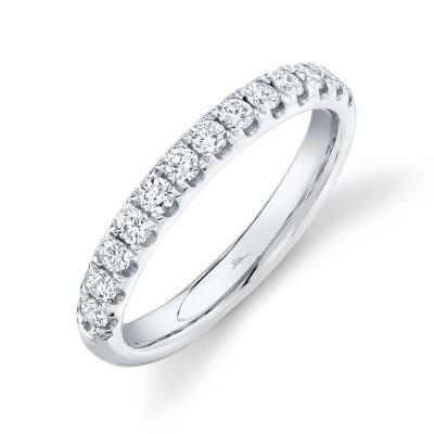 0.55ct 14k White Gold Diamond Lady's Band