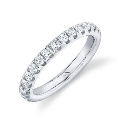 1.21ct 14k White Gold Diamond Eternity Band Size 7