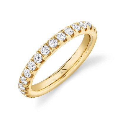 1.21ct 14k Yellow Gold Diamond Eternity Band Size 7