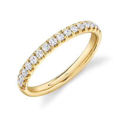 0.40ct 14k Yellow Gold Diamond Lady's Band