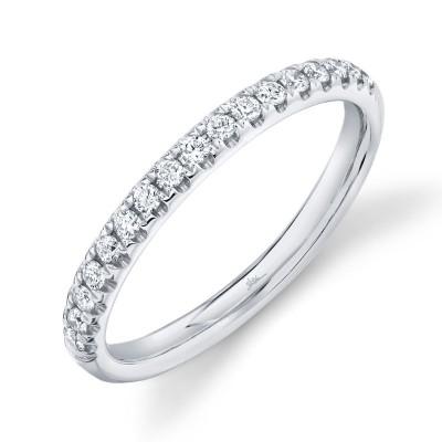0.25ct 14k White Gold Diamond Lady's Band