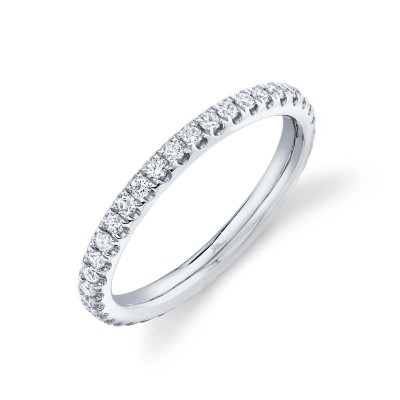 0.58ct 14k White Gold Diamond Eternity Band Size 7