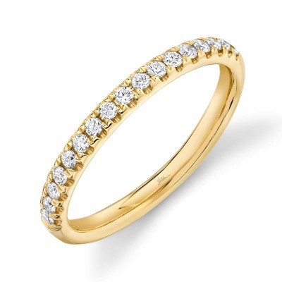 0.25ct 14k Yellow Gold Diamond Lady's Band