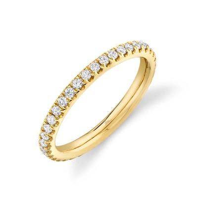 0.58ct 14k Yellow Gold Diamond Eternity Band Size 7