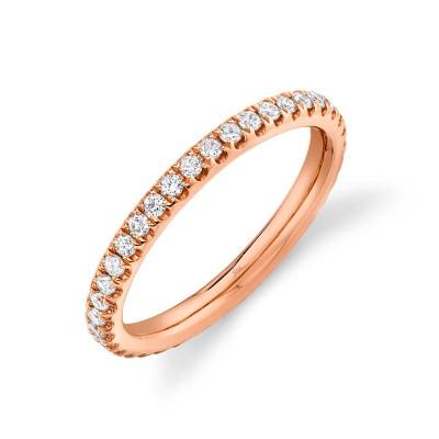 0.58ct 14k Rose Gold Diamond Eternity Band Size 7