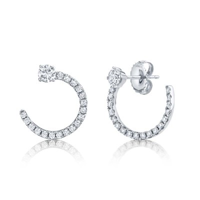 0.93ct 14k White Gold Diamond Earring