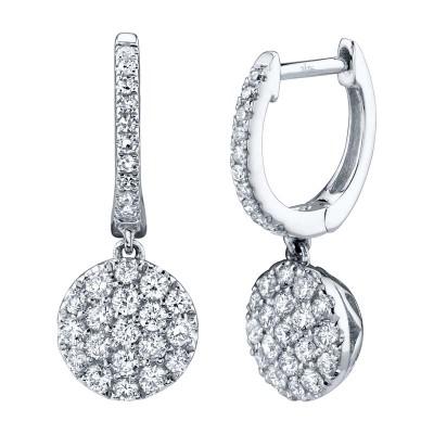 0.50ct 14k White Gold Diamond Pave Earring