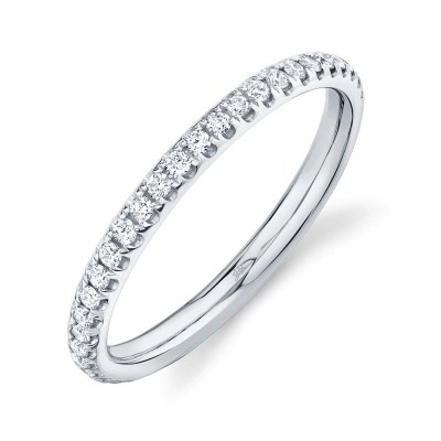 0.40ct 14k White Gold Diamond Eternity Lady's Band Size 7