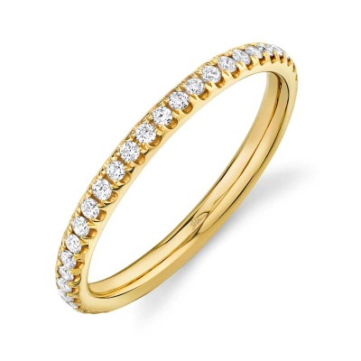 0.40ct 14k Yellow Gold Diamond Eternity Lady's Band Size 7