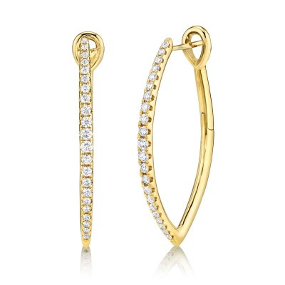 0.75ct 14k Yellow Gold Diamond Hoop Earring