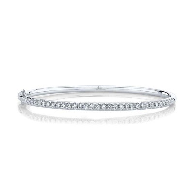 0.88ct 14k White Gold Diamond Bangle