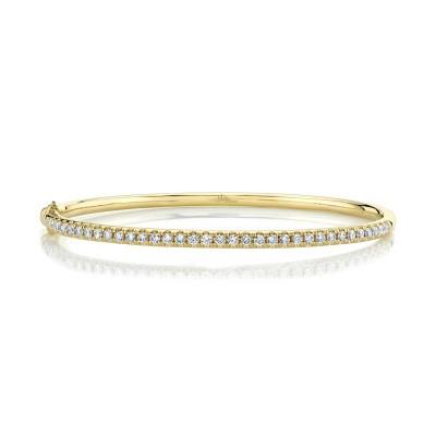 0.88ct 14k Yellow Gold Diamond Bangle