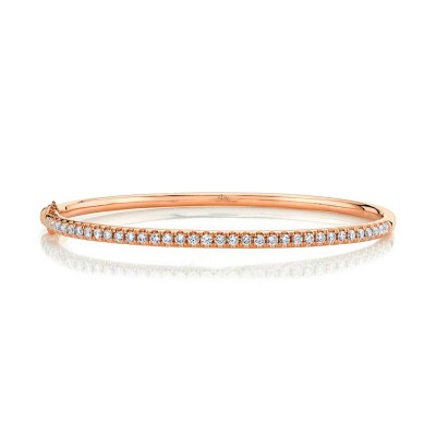 0.88ct 14k Rose Gold Diamond Bangle