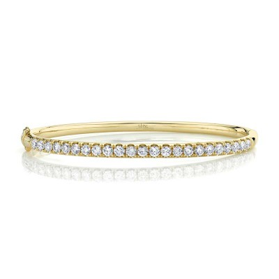 2.00ct 14k Yellow Gold Diamond Bangle