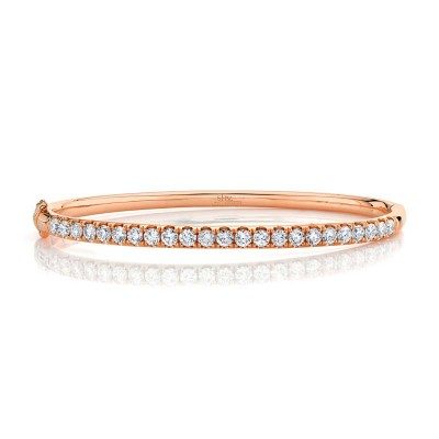 2.00ct 14k Rose Gold Diamond Bangle