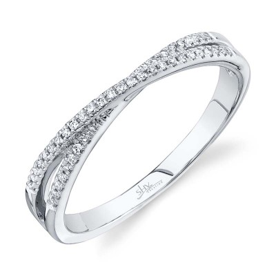 0.09ct 14k White Gold Diamond Lady's Ring