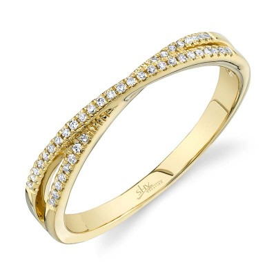 0.09ct 14k Yellow Gold Diamond Lady's Ring