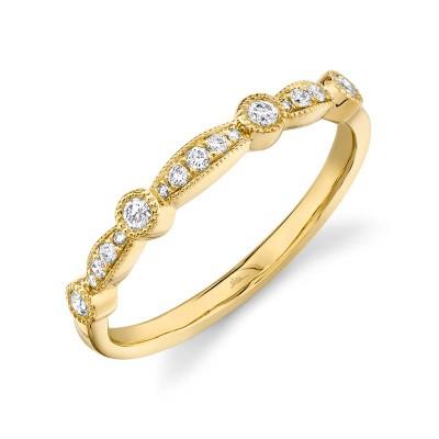 0.16ct 14k Yellow Gold Diamond Lady's Band